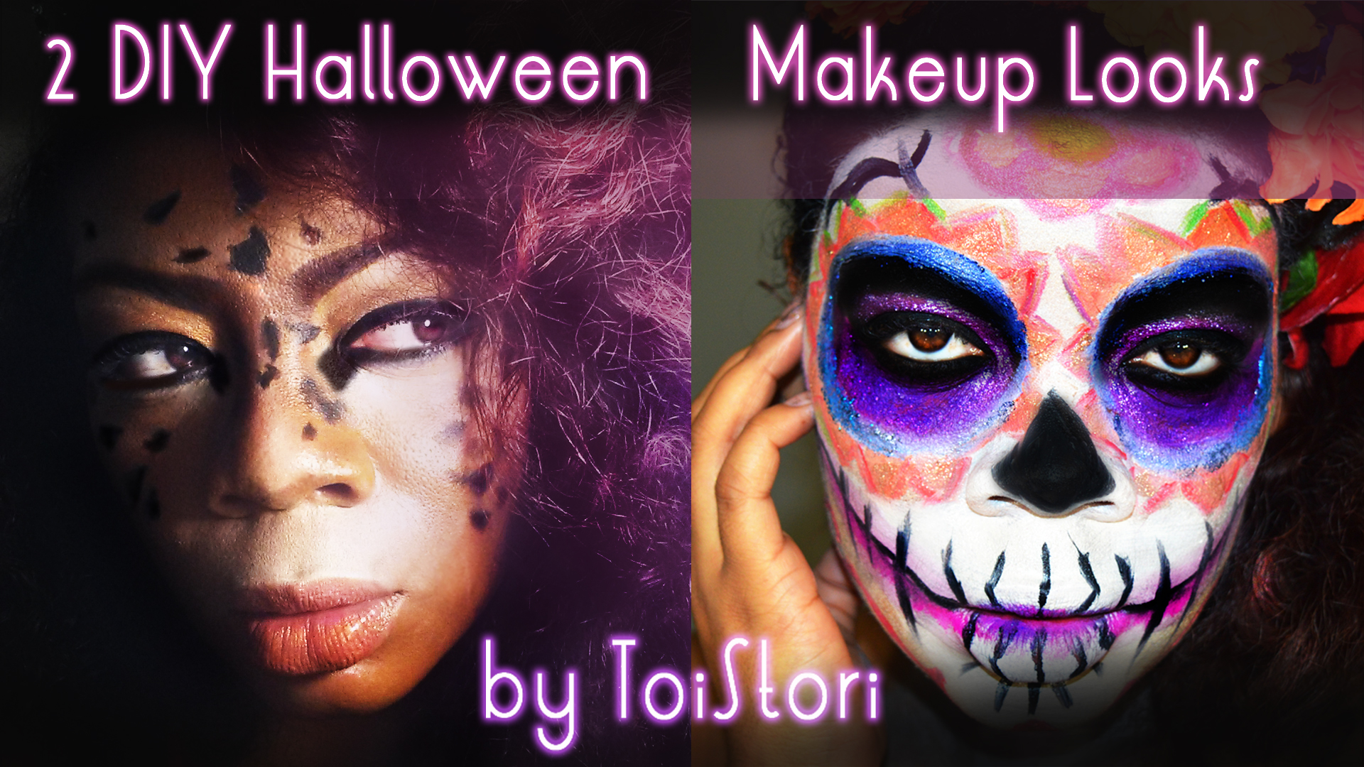 Diy halloween makeup looks t o i house by toi powell for Skone tattooed eyeliner